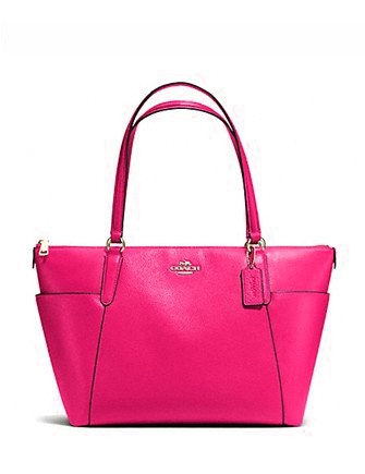 Coach Ava Zip Top Tote in Pebble Leather