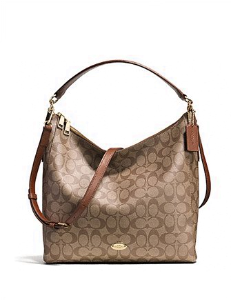 Coach Celeste Convertible Hobo in Signature Coated Canvas