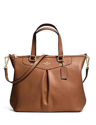 Coach Pleat Tote in Crossgrain Leather