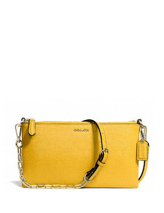 Coach Saffiano Leather Kylie Chain Crossbody
