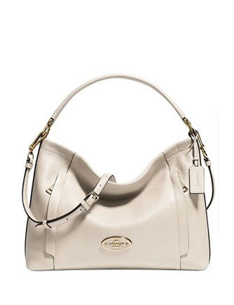 Coach Pebble Leather Scout Hobo Shoulder Bag