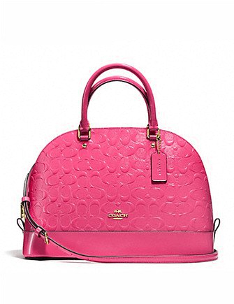 Coach Sierra Satchel in Debossed Patent Leather