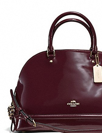 Coach Sierra Satchel in Patent Leather
