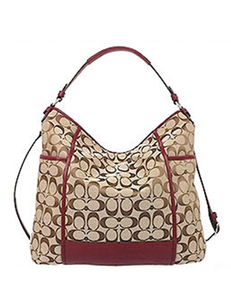 Coach Signature Jacquard Park Hobo Bag