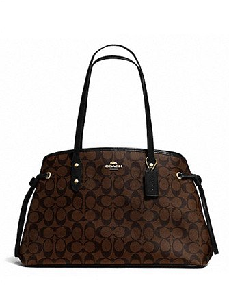 Coach Signature Print Drawstring Carryall