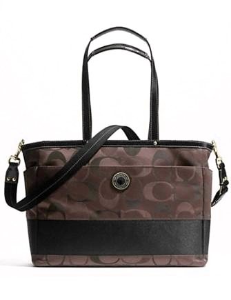 Coach Signature Stripe Diaper Baby Bag Multifunction Tote