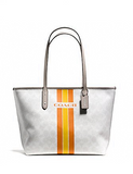 Coach Signature Varsity City Zip Top Tote