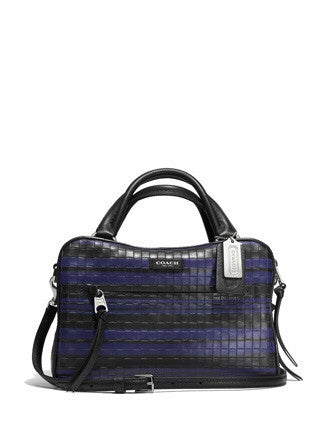 Coach Small Bleecker Toaster in Embossed Woven Leather