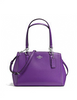 Coach Small Christie Carryall Satchel in Crossgrain Leather
