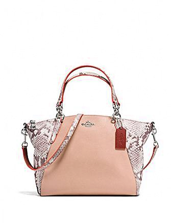 Coach Small Kelsey in Python Embossed Leather