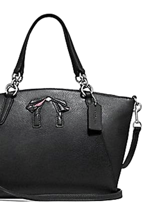 Coach Small Kelsey Satchel In Pebble Leather With Bow