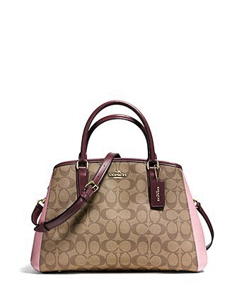 Coach Small Margot Carryall in Colorblock Signature Print