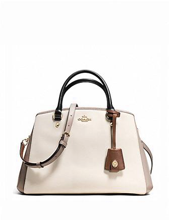 Coach Small Margot Carryall in Crossgrain Colorblock Leather