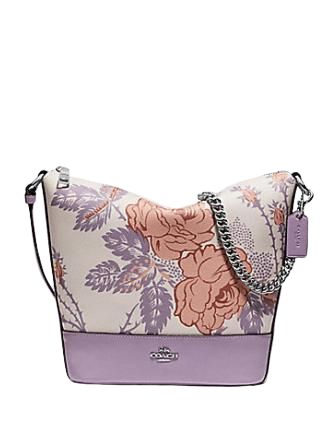 Coach Small Paxton Duffle With Thorn Roses Print