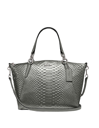 Coach Small Python Embossed Kelsey Satchel