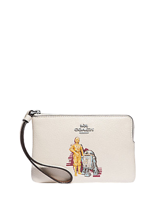 Coach Star Wars X Corner Zip Wristlet With C-3PO And R2-D2