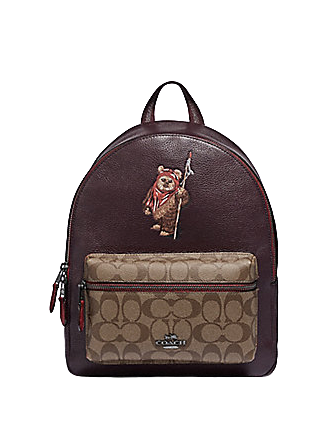 Coach Star Wars X Medium Charlie Backpack in Signature With Ewok