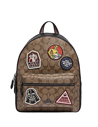 Coach Star Wars X Medium Charlie Backpack in Signature With Patches