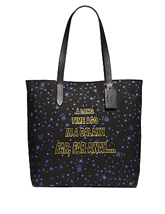 Coach Star Wars X Tote With Starry Print and Scroll Print