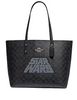 Coach Star Wars X Town Tote With Signature Canvas Glitter Logo Motif