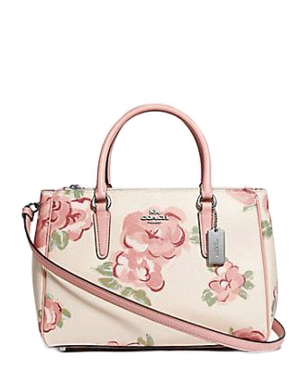 Coach Surrey Carryall With Jumbo Floral Print Satchel