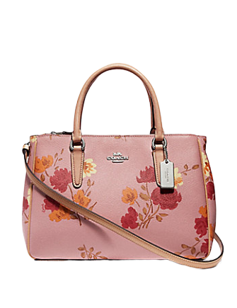 Coach Surrey Carryall With Painted Peony Print