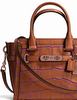 Coach Swagger 21 In Contrast Exotic Embossed Leather