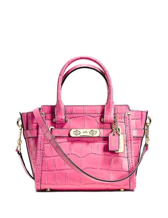Coach Swagger 21 In Exotic Croc Embossed Leather