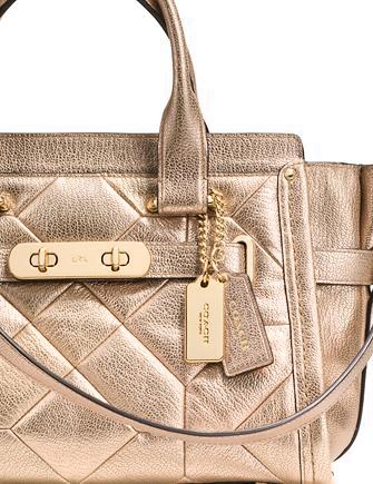 Coach Swagger 27 Carryall in Metallic Patchwork Leather