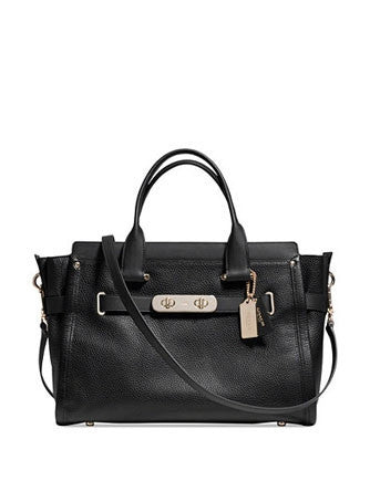 Coach Swagger 37 Carryall Satchel In Pebble Leather