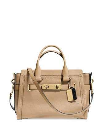 Coach Swagger Carryall In Colorblock Pebbled Leather