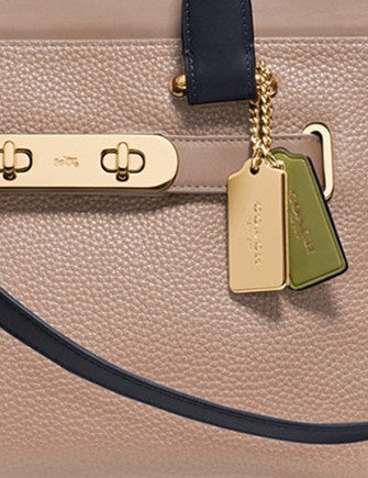 Coach Swagger Satchel in Colorblock Pebble Leather