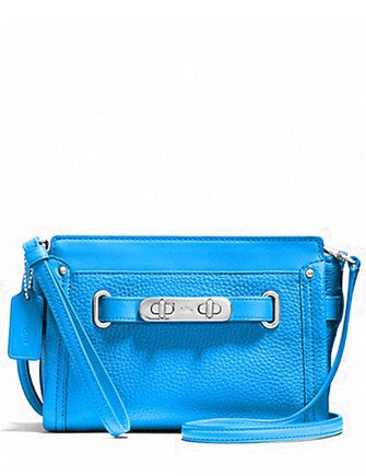 Coach Swagger Wristlet Crossbody in Pebble Leather