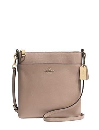 Coach North South Swingpack Embossed Textured Leather