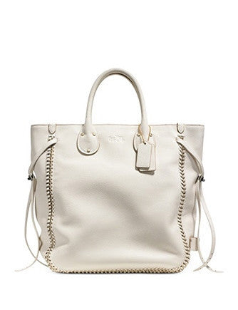 Coach Tatum Tall Tote In Whiplash Pebbled Leather