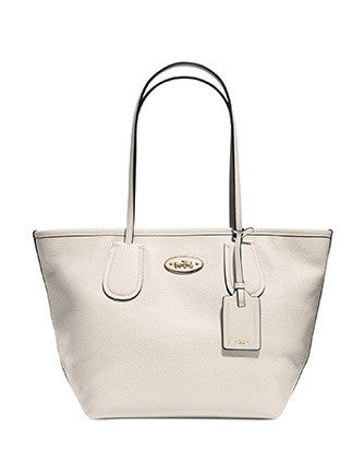 Coach Taxi Shoulder Tote in Crossgrain Leather