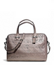 Coach Taylor Eyelet Leather Zip Satchel