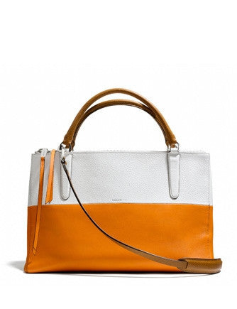 Coach Borough Colorblock Satchel in Boarskin Leather