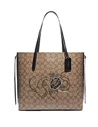 Coach Tote in Signature Canvas With Chelsea Animation