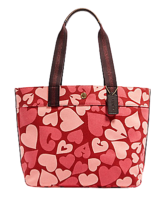 Coach Tote With Heart Print