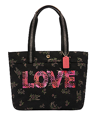 Coach Tote With Jason Naylor Love Graphic