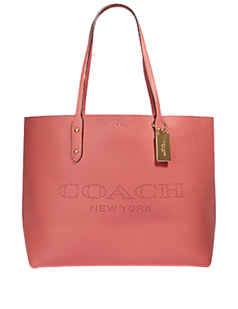 Coach Town Tote With Coach Print