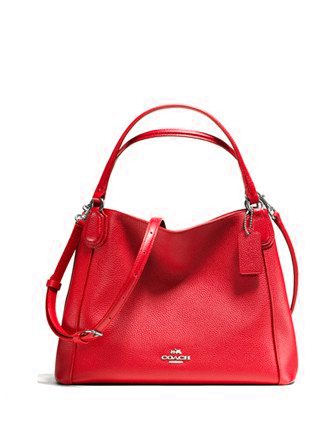 Coach Edie 28 Shoulder Bag in Polished Pebble Leather