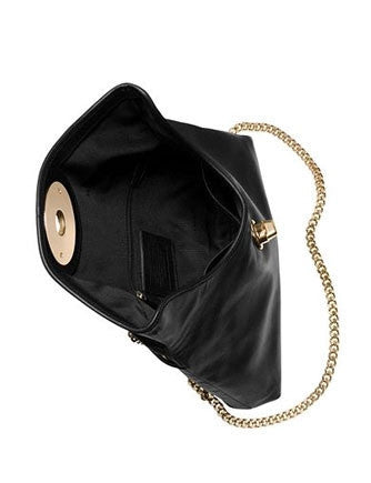Coach Turnlock Flap Front Clutch In Smooth Leather
