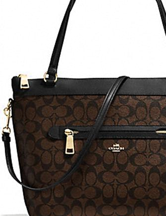 Coach Tyler Tote in Signature Coated Canvas