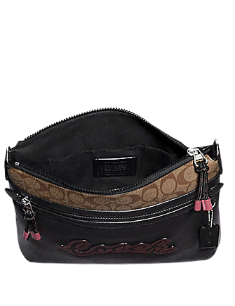 Coach Vale File Crossbody With Signature Canvas Detail