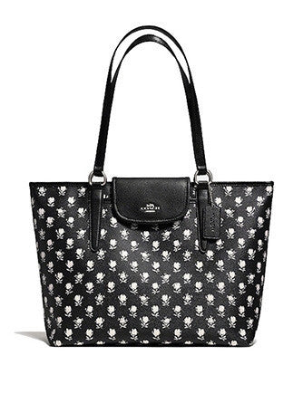 Coach Ward Tote In Badlands Floral Print Coated Canvas