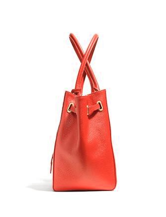 Coach Small Turnlock Tie Tote in Refined Pebble Leather
