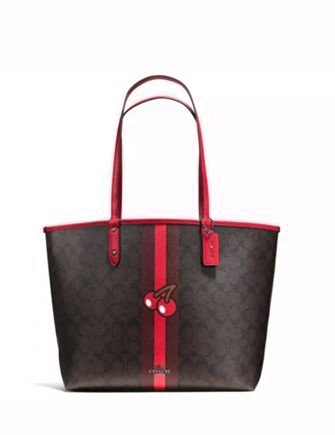 Coach X Pac-Man Cherry Signature Reversible City Tote