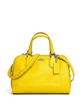 Coach Mini Nolita Zip Top Satchel In Pebble Leather
